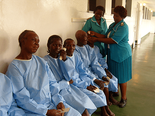 HelpAge Zimbabwe Old Age beneficiaries receiving Eye Care Treatment
